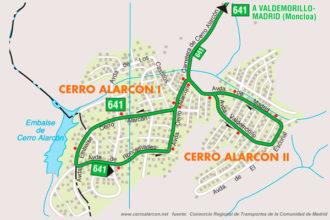 Autobuses en Cerro Alarcón