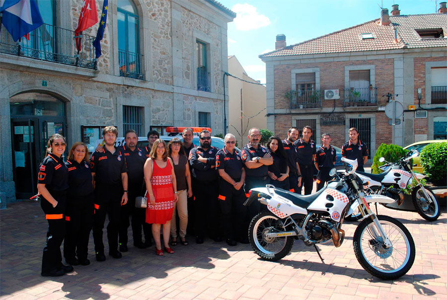 La Alcaldesa de Valdemorillo en la presentación de Protección Civil