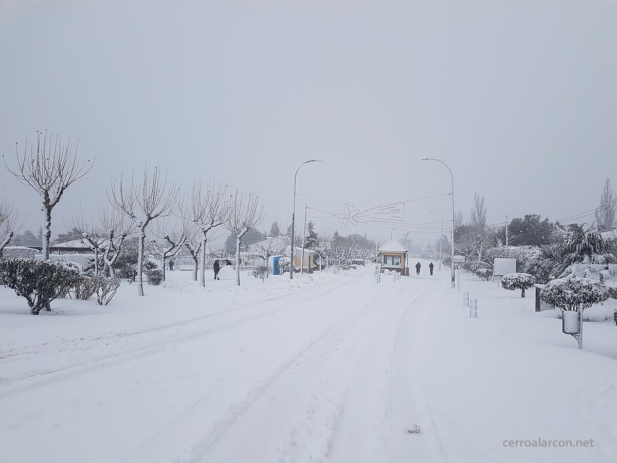 Temporal de nieve en Cerro Alarcón enero 2021